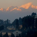 view of mountains from north point in darjeeling