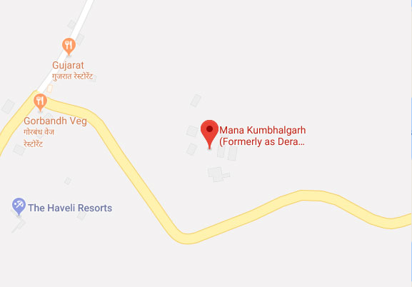 Mana Kumbhalgarh Map